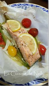 la cuisine de nelly papillote légère de saumon fenouil et poivron la cuisine de nelly