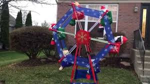 Animated Inflatable Christmas Yard Decorations by 7 U0027 Gemmy Animated Christmas Ferris Wheel Youtube