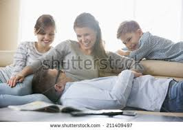 Family Living Room Stock Images RoyaltyFree Images  Vectors - Family in living room