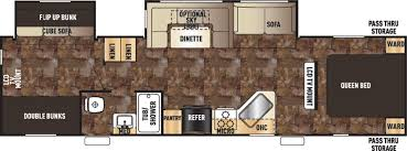 Bunkhouse Trailer Floor Plans Cherokee Travel Trailers Floor Plans Access Rv