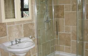 ideas for shower glass panel and brown tile walls two handle