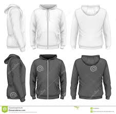 men zip hoodie stock vector image 50333919