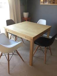 ikea extendable table bjursta birch seats 4 6 80 in