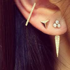 earring on ear 15 fresh ways to stack your earrings
