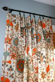 Suzani Curtain Circle Curtain Panels In Orange And Blue Suzani Designer Curtain