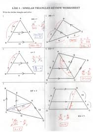 similar triangle review worksheet answer key