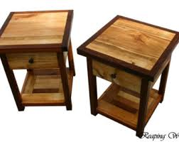 golden oak end tables two beautiful reclaimed rustic antique barn wood end table