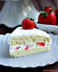 strawberry sponge cake table for two