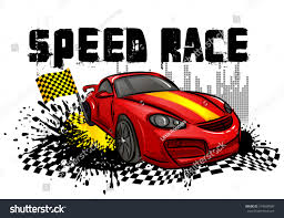 porsche racing poster speed race poster red sport car stock vector 704939986 shutterstock