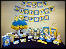 Personalized Party Decorations Spongebob Squarepants Birthday Ideas Deluxe Printable Party