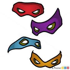 draw masks ninja turtles