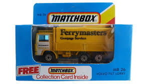volvo lorry model car mart matchbox toys superfast era blue box edition