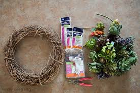 faux succulent wreath pottery barn knock