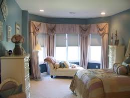 elegant cornice window treatment bay window on the modern windows