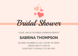 bridal invitation templates 19 diy bridal shower and wedding invitation templates venngage