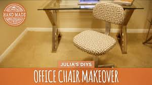 Handmade Office Furniture by No Sew Office Chair Makeover Hgtv Handmade Youtube