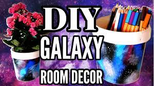 diy galaxy room decor yogurt bucket flower pot and pencil