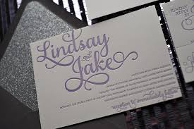 Purple And Silver Wedding Invitations Real Wedding Lindsay And Jake Purple And Grey Glitter Wedding