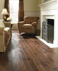 scraped hardwood to our medium brown color living