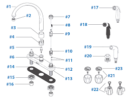 delta kitchen faucet parts diagram repair parts for delta kitchen faucets