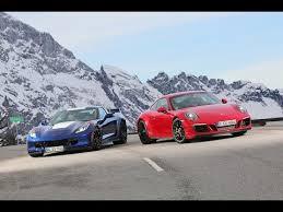 porsche 911 vs corvette porsche 911 gts vs corvette grand sport track battle sport
