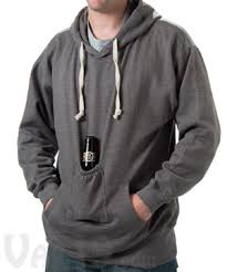 beer pouch sweatshirt with hood the original beer holder sweatshirt