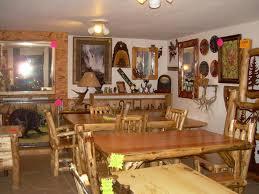 Log Cabin Dining Room Furniture The Lazy Elk Custom Made Log Furniture In Murphy Nc