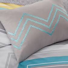 Twin Xl Grey Comforter Elise Twin Xl Comforter Set Blue Chevron Free Shipping