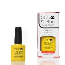 cnd shellac uv nail polish u2013 bicycle yellow 7 3ml nail stars