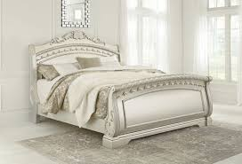 Silver Queen Bed Signature Design By Ashley Cassimore Silver Queen Sleigh Bed