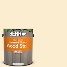 behr 1 gal sc 157 navajo white solid color house and fence wood