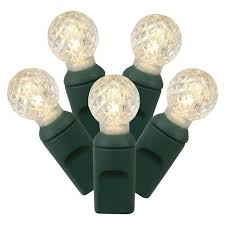 bulb string lights target led faceted globe string lights warm white 50 ct target