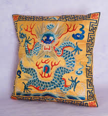 Home Decor Cushions Embroidered Dragon Pillow Covers Home Décor Cushions U0026 Bedding