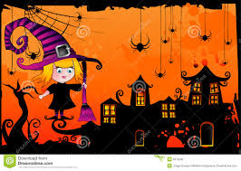 halloween cartoon witch vector royalty free stock photo image
