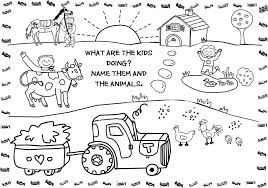 farm animals colouring images coloring pages worksheets for grade
