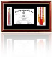 tassel frame custom framed diploma shadowbox including tassels and photos