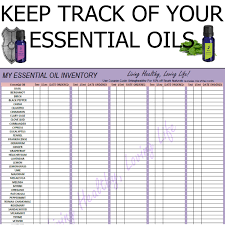 Product Inventory Spreadsheet Living Healthy Loving Life My Essential Oil Inventory