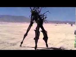 Halloween Costumes Stilts Hd Burning Man 2010 Awesome Stilt Costume