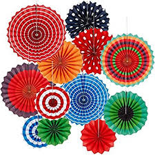 hanging paper fans mexican hanging paper fans colorful