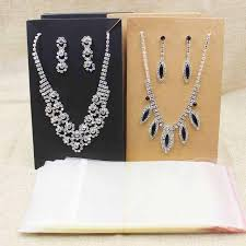 necklace earring display images 15 5 9 5cm black kraft large costume necklace with earring display jpg