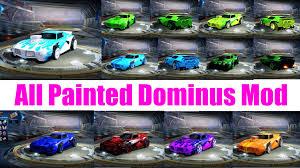 painted dominus gt u0027s all paints colors in 1 mod rocket league mods