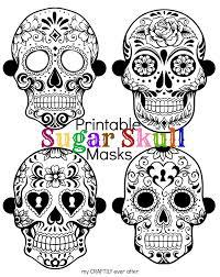 Printable Halloween Mask by Sugar Skull Printable Halloween Masks My Craftily Ever After