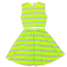 girls skater dress kids party dresses with free belt age 7 8 9 10