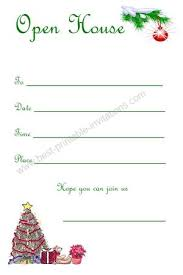 Open House Invitations Christmas Open House Invitations