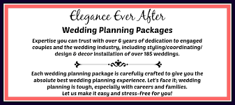 wedding planner packages wedding planning elegance after