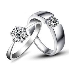 couples rings online images Gorgeous couple rings jewelry white gold his and her jewellery 1ct jpg
