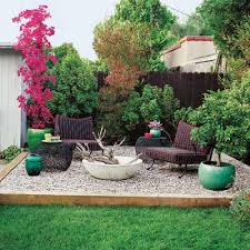 Backyard Patio Images by How To Design Charming Landscape Using Pea Gravel Patio Beautiful