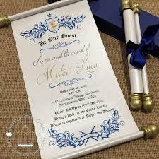 scroll invitation royal prince princess scroll invitation birthday wedding