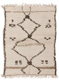 Vintage Moroccan Rug Beni Ourain Rugs Tribal Tradition Mid Century Modern Mohr