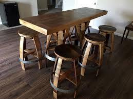 Wine Barrel Patio Table Rectangle Pub Table Sets Best Table Decoration